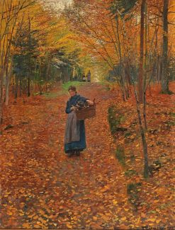 Woman Gathering Wood | Friederich Kallmorgen | Oil Painting