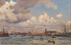 Hamburg Harbor | Friederich Kallmorgen | Oil Painting