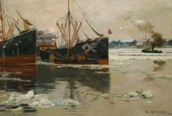 On the Elbe | Friederich Kallmorgen | Oil Painting