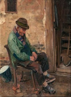 Peasant from Mecklenburg | Friederich Kallmorgen | Oil Painting