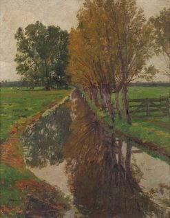 Weiden am Bach | Friederich Kallmorgen | Oil Painting