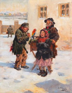Travelling Musicians | Vladimir Yegorovich Makovsky | Oil Painting