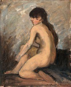 Sitting Model | Jalmari Ruokokoski | Oil Painting