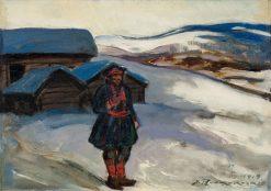 A Man from Lapland | Jalmari Ruokokoski | Oil Painting