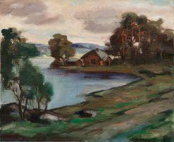 A Cabin by the Lake | Jalmari Ruokokoski | Oil Painting