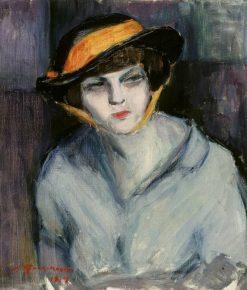 Woman with a Hat | Jalmari Ruokokoski | Oil Painting