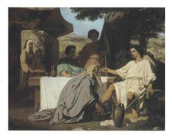 Abraham Washing the Feet of his Three Visitors | Felix-Henri Giacomotti | Oil Painting