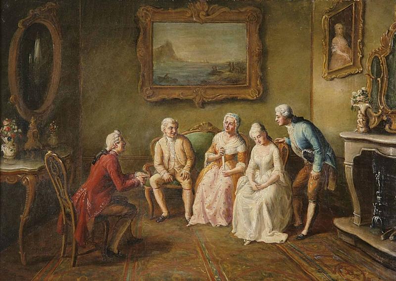 Obraz nazvaný Zasnoubení, Felix-Henri Giacomotti. (Volné dílo)