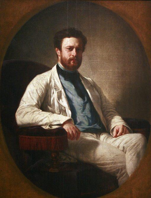 Portrait of Edmond About | Felix-Henri Giacomotti | Oil Painting