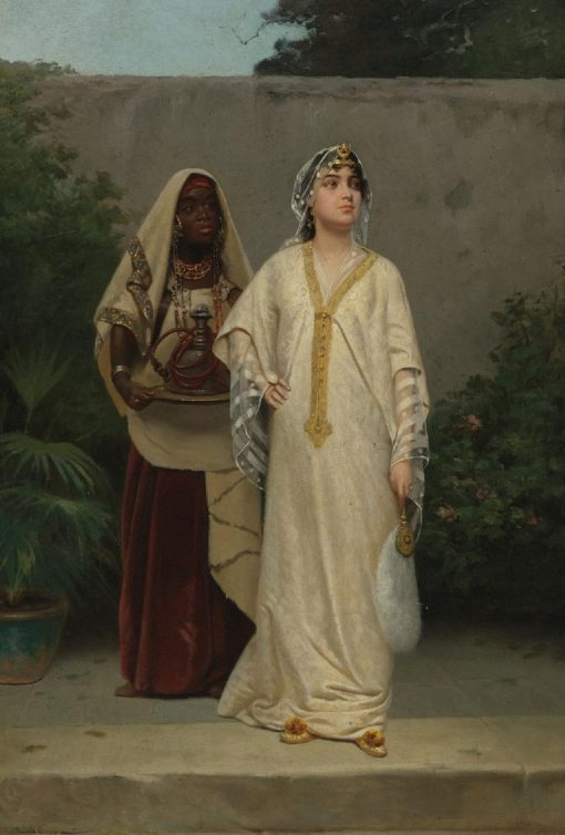 Oriental Woman with Her Servant | Vincent G. Stiepevich | Oil Painting