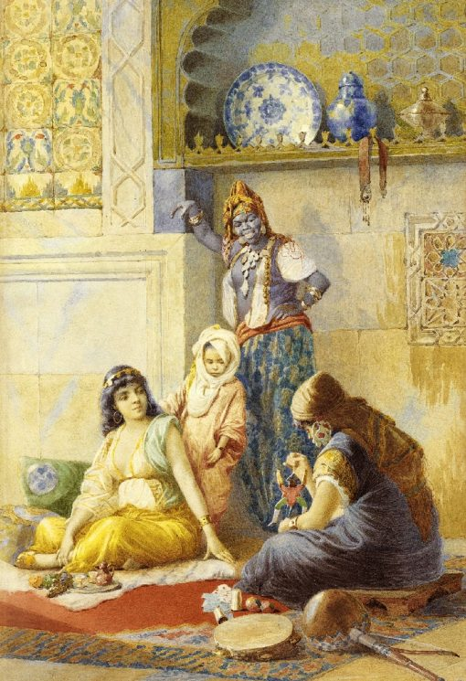 Nursery in the Harem | Vincent G. Stiepevich | Oil Painting