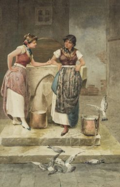 Gossiping at the Well | Vincent G. Stiepevich | Oil Painting