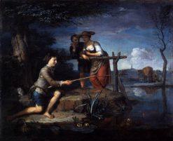 The Angler   Carel de Moor   Oil Painting