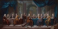 Members of the Magistrate of The Hague   Carel de Moor   Oil Painting
