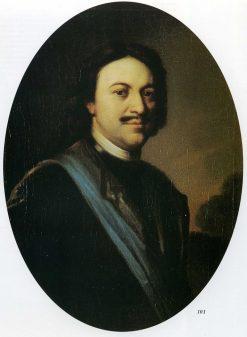 Portrait of Peter I   Carel de Moor   Oil Painting