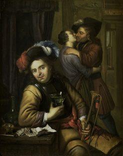 Scene with Soldiers   Carel de Moor   Oil Painting