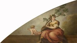 Fortitude Holding an Oak Branch (after Raphael)   Samuel Woodforde   Oil Painting