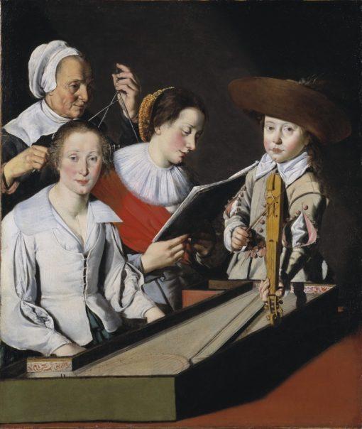 A Musical Party   Paul La Tarte   Oil Painting