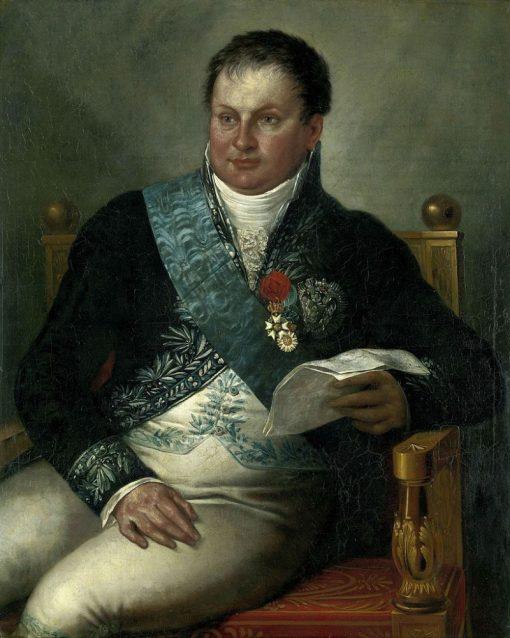 Portrait of Alexander Gogel   Mattheus Ignatius van Bree   Oil Painting