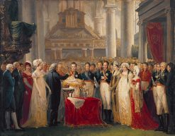 Baptism of William III of the Netherlands | Mattheus Ignatius van Bree | Oil Painting