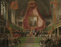 The solemn installation of the University of Ghent by the Prince of Orange | Mattheus Ignatius van Bree | Oil Painting