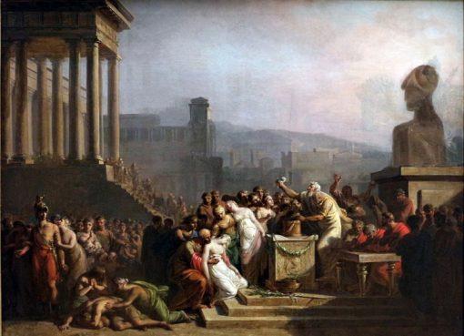 Victims to the Minotaur | Mattheus Ignatius van Bree | Oil Painting