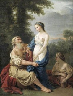 Lot and His daughters (after Louis Jean Francois Lagrenee) | Samuel Woodforde | Oil Painting