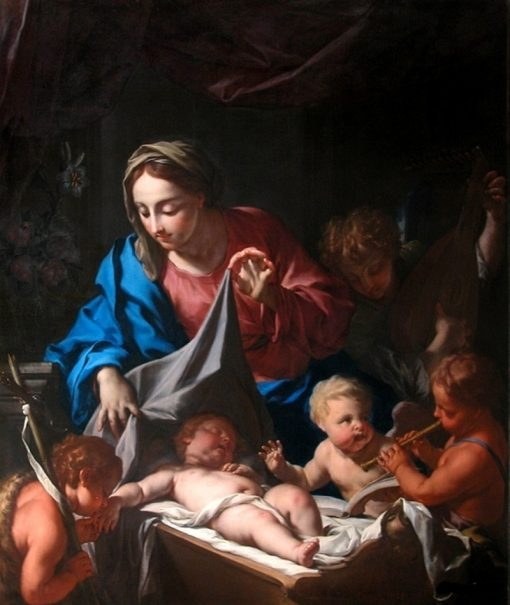 The Infant Jesus Sleeping | Francesco Trevisani | Oil Painting