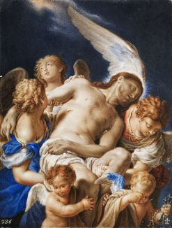 Angels Carrying the Body of Christ | Francesco Trevisani | Oil Painting