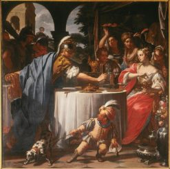 The Banquet of Mark Antony and Cleopatra | Francesco Trevisani | Oil Painting