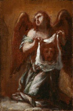 An Angel Holding Veronicas Veil | Francesco Trevisani | Oil Painting