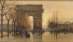 LArc de Triomphe | Eugene Galien-Laloue | Oil Painting