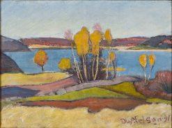 Autumn at Lake Vanern | Olof Sager-Nelson | Oil Painting