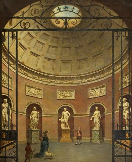 Interior of the Pantheon at Stourhead | Samuel Woodforde | Oil Painting