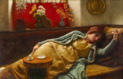 Resting   Sir James Dromgole Linton   Oil Painting