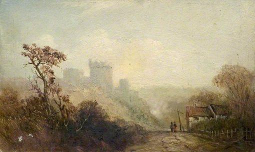 Castle Landscape   Claude T. Stanfield Moore   Oil Painting