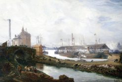 Pomona Docks | Claude T. Stanfield Moore | Oil Painting