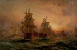 The Evening of Trafalgar | Claude T. Stanfield Moore | Oil Painting