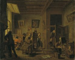 A Painters Studio | Jan Josef Horemans the Elder | Oil Painting