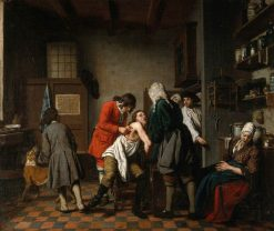 Interior with a Surgeon and His Apprentice Attending to a Patient | Jan Josef Horemans the Elder | Oil Painting