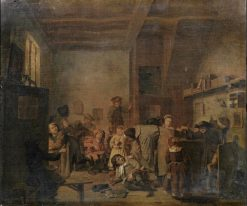 A schoolmaster and his pupils in an interior | Jan Josef Horemans the Elder | Oil Painting