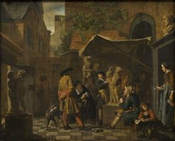 A Sculptors Studio | Jan Josef Horemans the Elder | Oil Painting