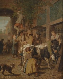Cattle Market | Jan Josef Horemans the Elder | Oil Painting