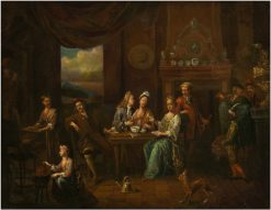 Courtly company at table | Jan Josef Horemans the Elder | Oil Painting