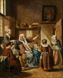 The Needlework | Jan Josef Horemans the Elder | Oil Painting
