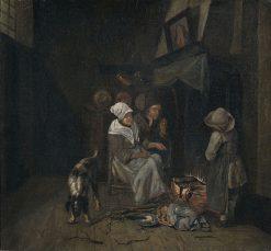 Family in the Kitchen | Jan Josef Horemans the Elder | Oil Painting