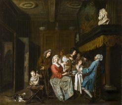 A Tea Party | Jan Josef Horemans the Elder | Oil Painting