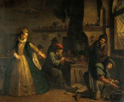 A Lady Visiting an Alchemists Laboratory | Jan Josef Horemans the Elder | Oil Painting