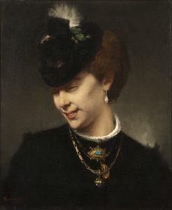 A Parisian Lady | Hugo Salmson | Oil Painting