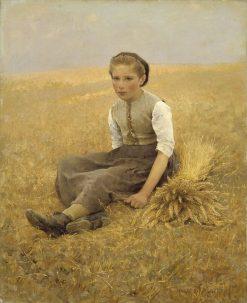 The Little Gleaner | Hugo Salmson | Oil Painting